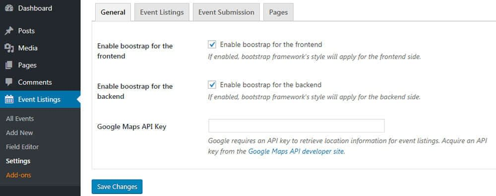 wp event manager page setting - WP Event Manager - The Ultimate WordPress Event Management Plugin
