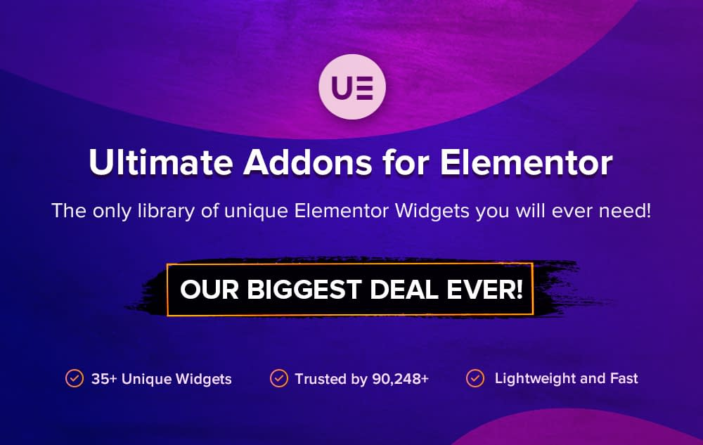 Ultimate Addons for Elementor - Black Friday and Cyber Monday Deal 2019