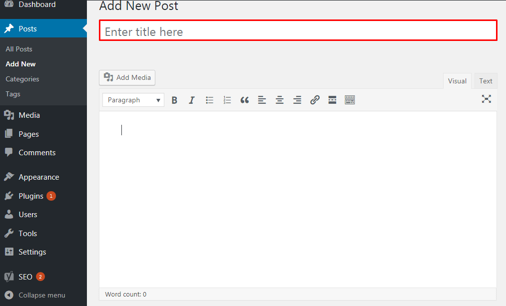 Add a New Post in WordPress. - How to Add a New Post in WordPress?