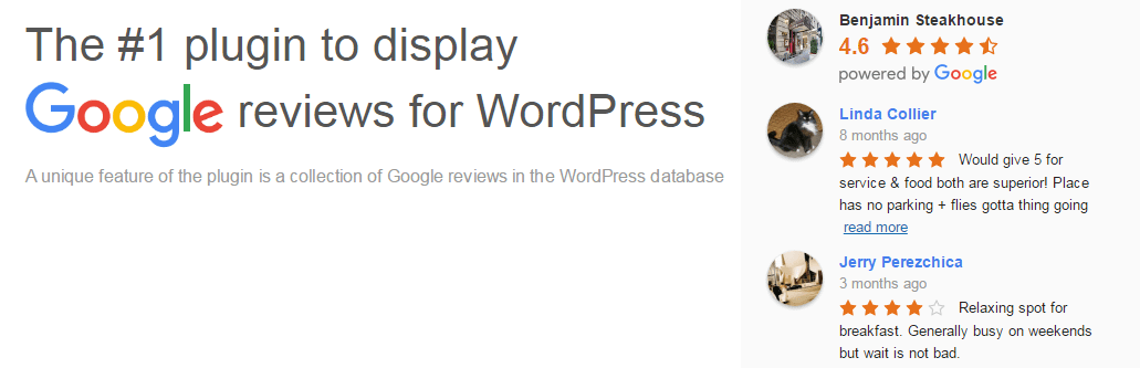 Google Reviews Widget - 5+ Best Free WordPress Google Place Review Plugins