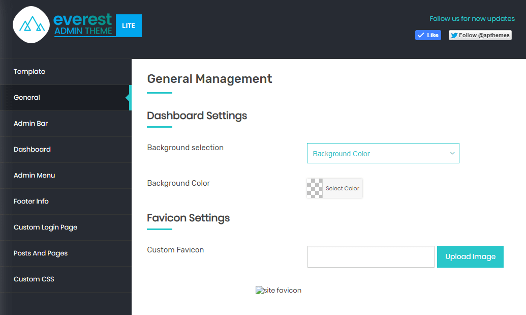 Everest Admin Theme: General