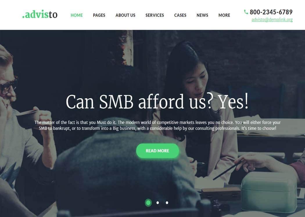 Advisto - WordPress Business Theme