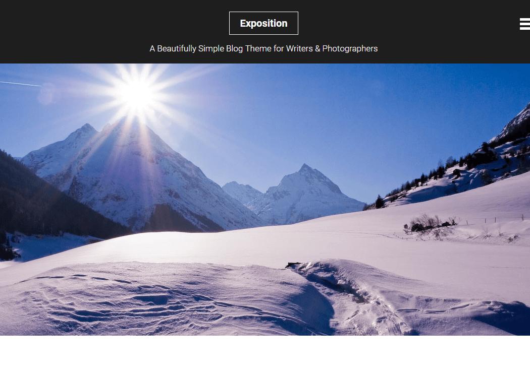 Exposition- WordPress Blog Theme