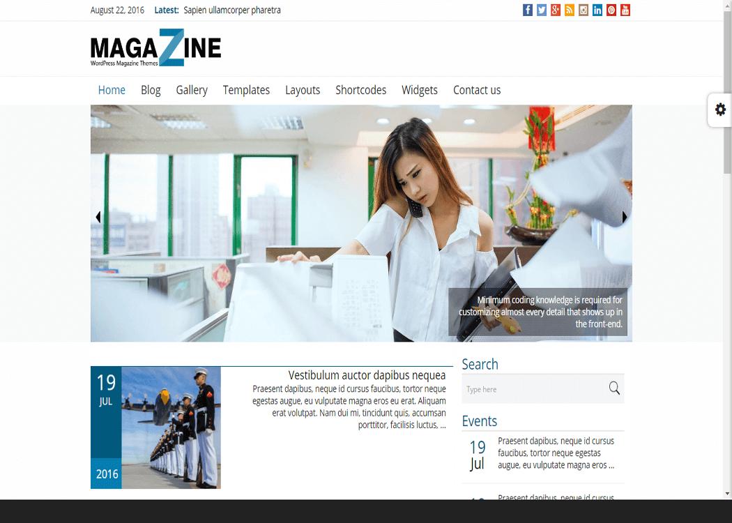 Magazine - WordPress News- Magazine WordPress Theme