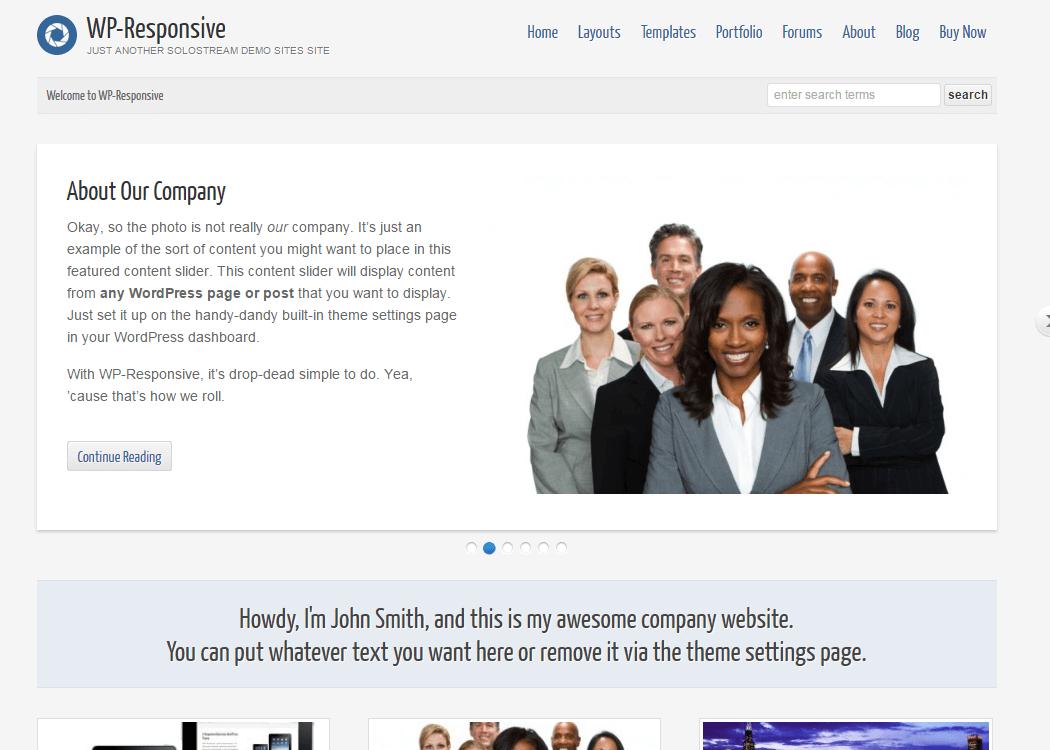 WP Responsive - WordPress Portfolio Theme