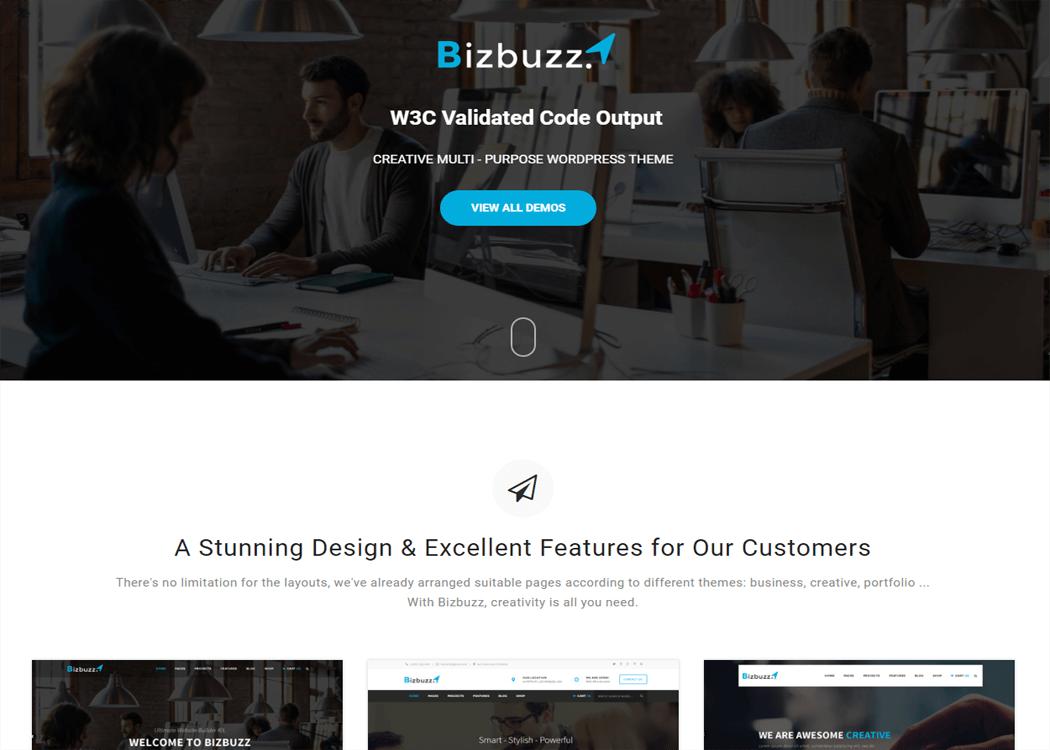 BizBuzz - WordPress Business Theme