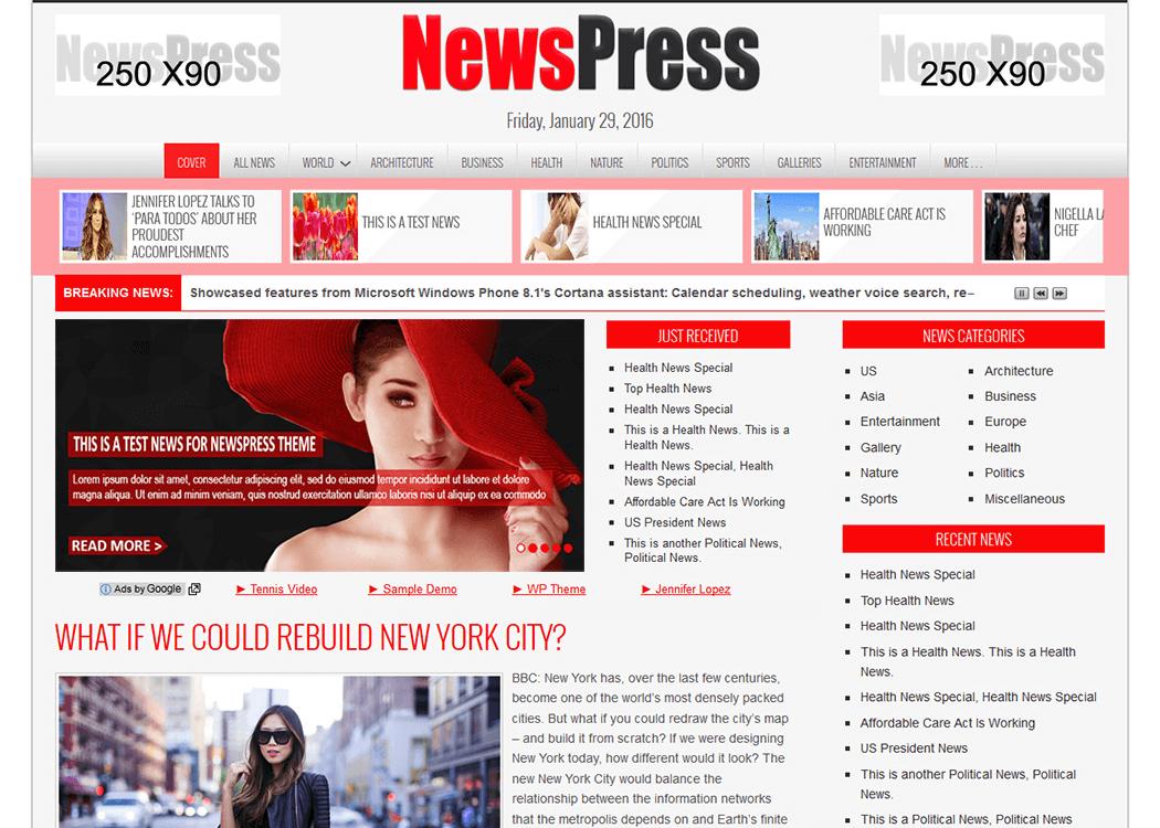 NewsPress - WordPress NewsMagazine Theme