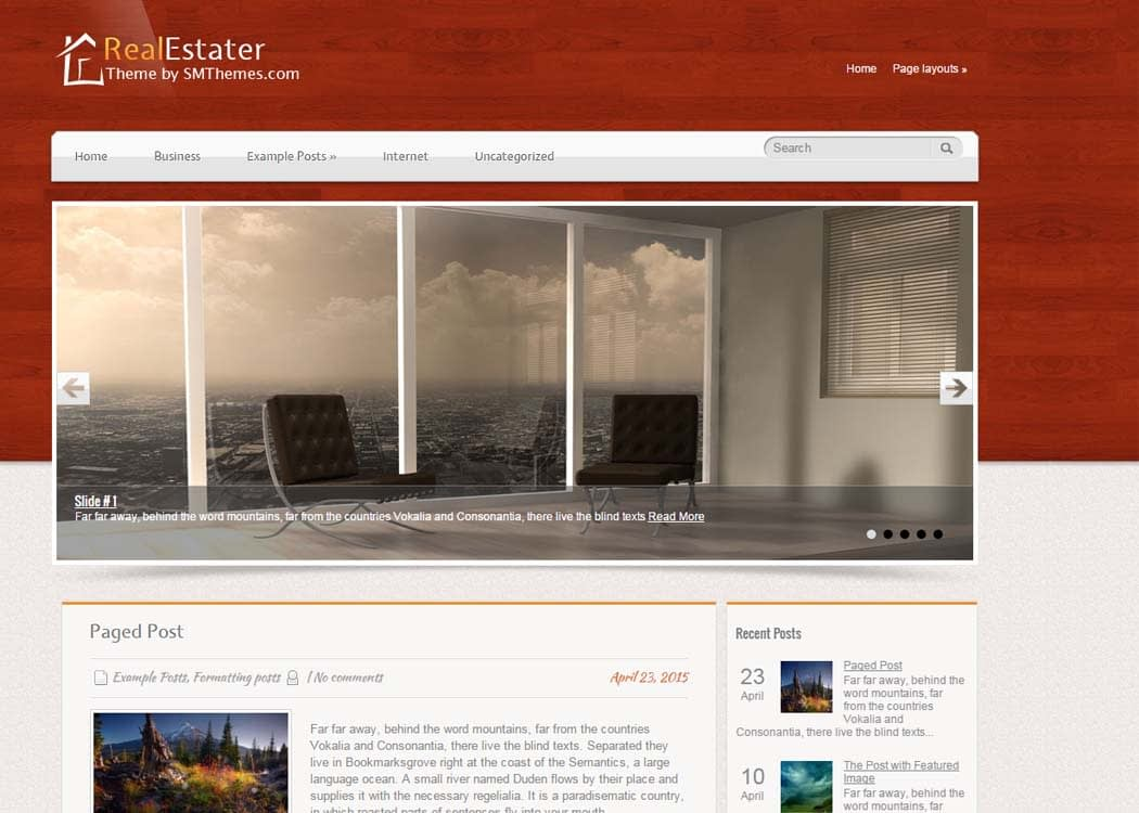 RealEstater WordPress Business Theme - 35+ Best Premium WordPress Themes and Templates 2019 [UPDATED]