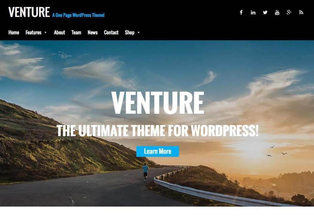 Venture - WordPress One page Theme