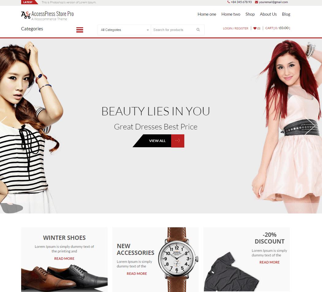 AccessPress Store Pro -Perfect WooCommerce WordPress Theme