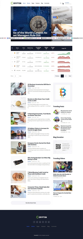 crypton best premium cryptocurrency wordpress theme - 10+ Best Premium Cryptocurrency WordPress Themes