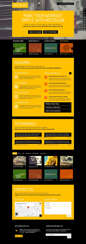 Nostalgia - Premium WordPress Landing Page Themes