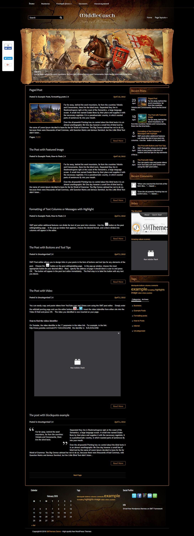 middleearth best free gaming wordpress theme - 10+ Best Free Gaming WordPress Themes
