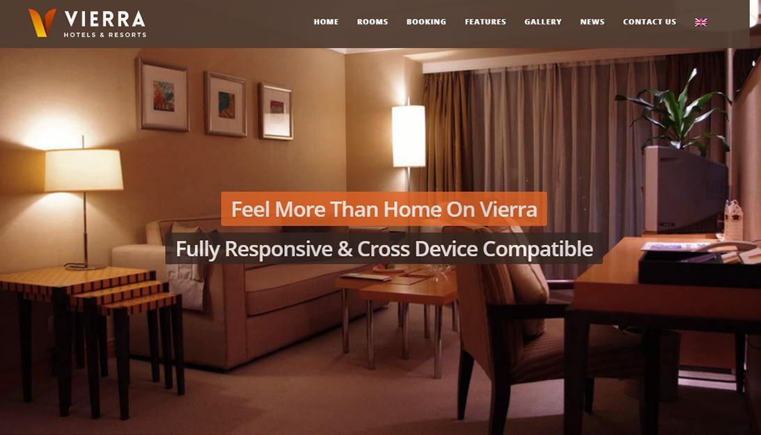 Vierra - Premium Hotel and Resort WordPress Theme