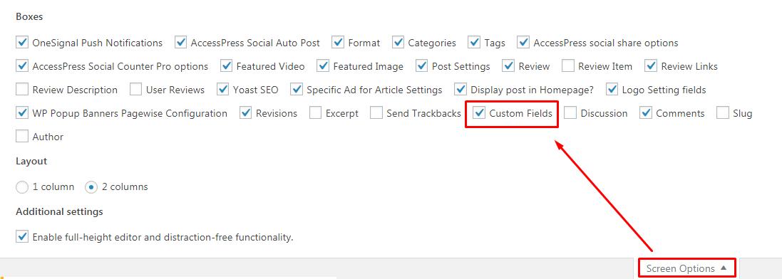 Fix Custom Fields Not Showing in WordPress.