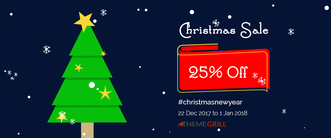 ThemeGrill - Best WordPress Christmas and New Year Deals