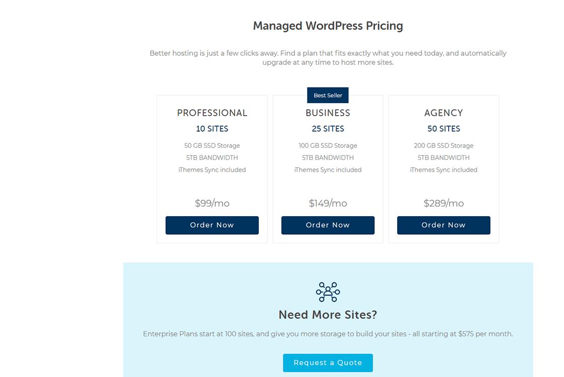 Liquidweb WordPress Hosting Plans
