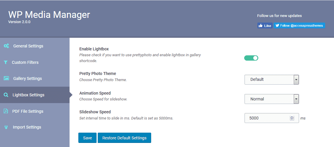 lightbox settings - How to manage your WordPress media using WP Media Manager? (Step by Step Guide)