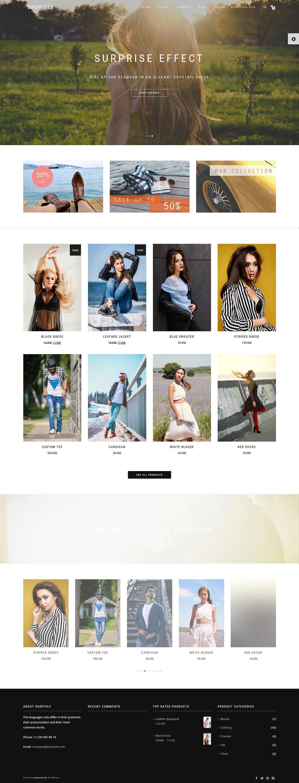 Shopisle - Best Free Fullscreen WordPress Theme