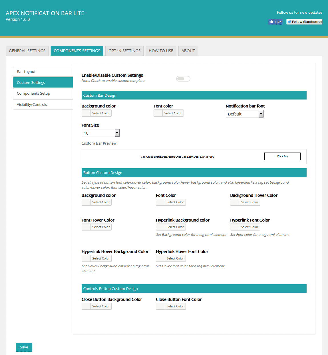 apex custom settings - How to Add Notification Bar on WordPress Website? (Step by Step Guide)
