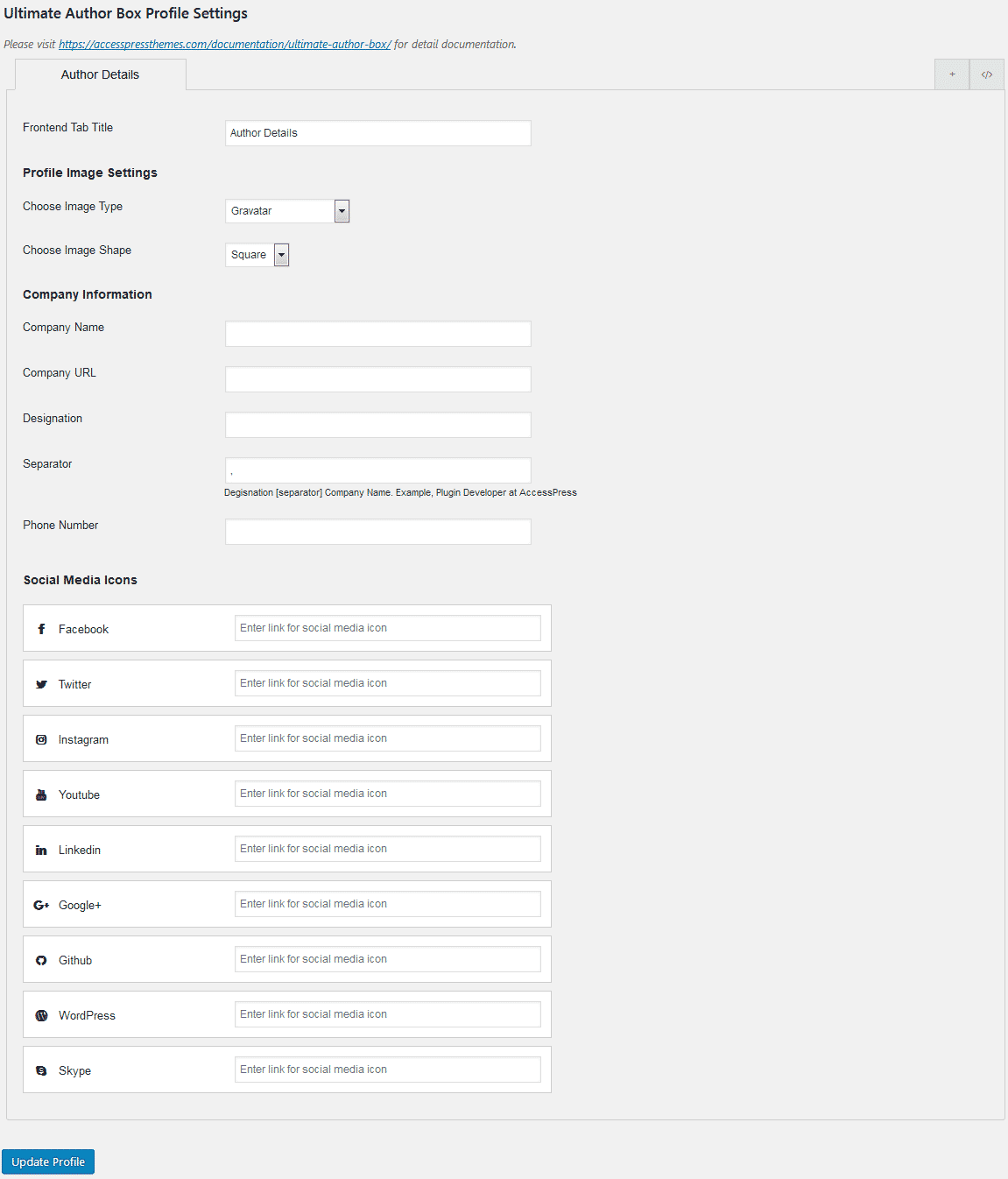 ultimate author box lite profile settings - How to Add Author Bio Box on WordPress Blogs? (Step by Step Guide)