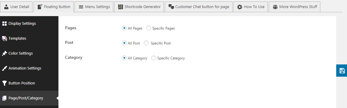 floating page post category - How to Add Messenger Button on WordPress Website?