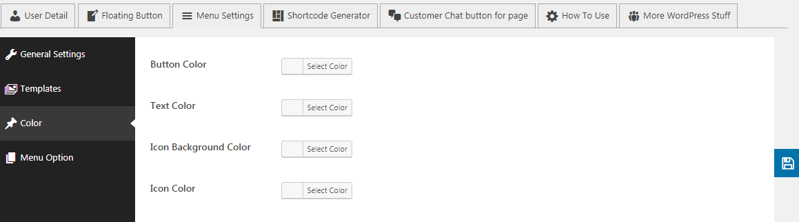 menu color option - How to Add Messenger Button on WordPress Website?