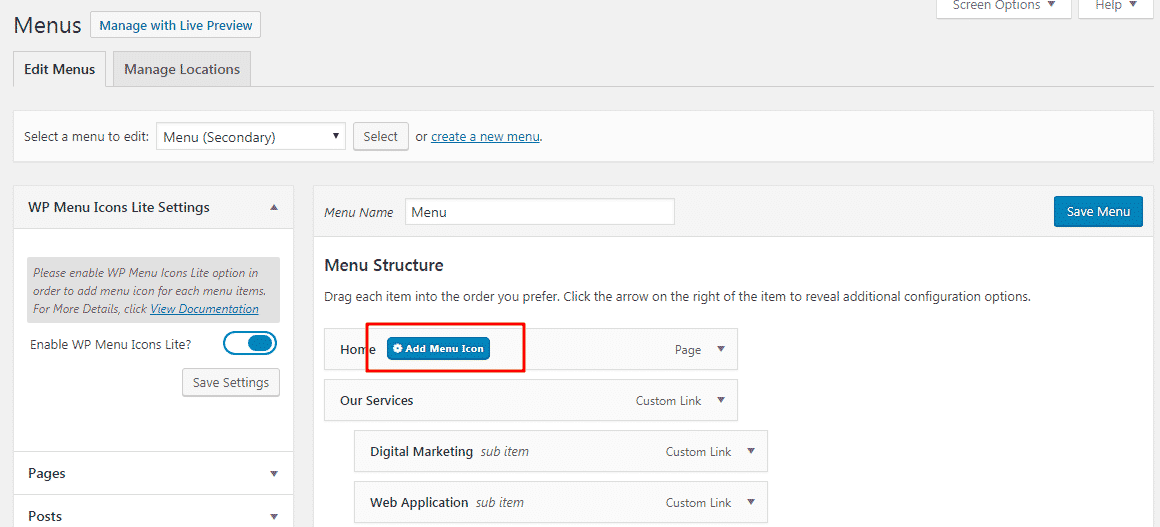 add menu icons - How to Add Custom Font Icons on WordPress Menu? (Step by Step Guide)