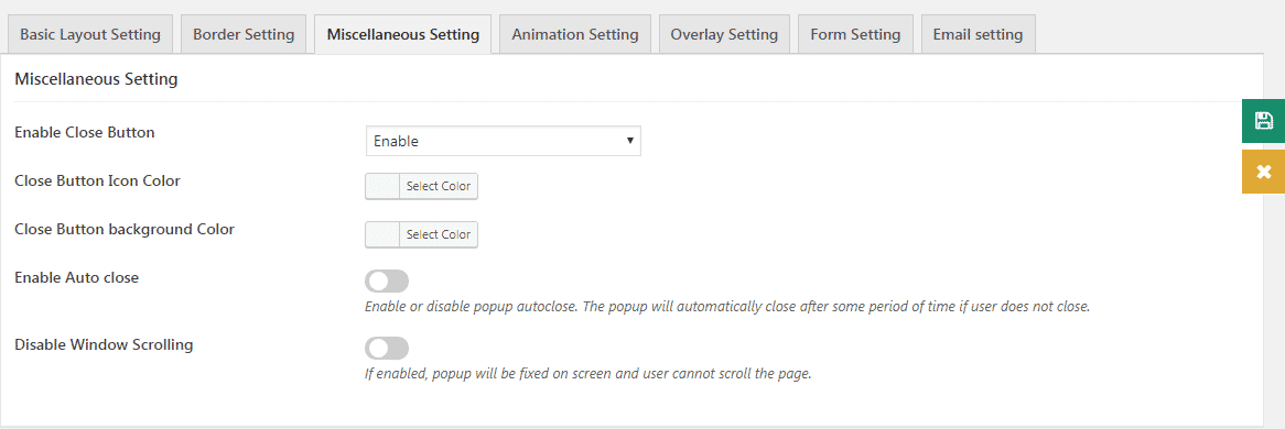miscellaneous settings - How to Add Responsive Popups on WordPress Website?