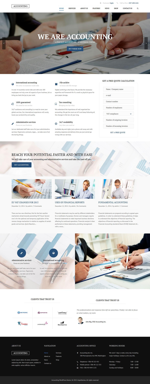 accounting best premium accounting wordpress theme - 10+ Best Premium Accounting WordPress Themes