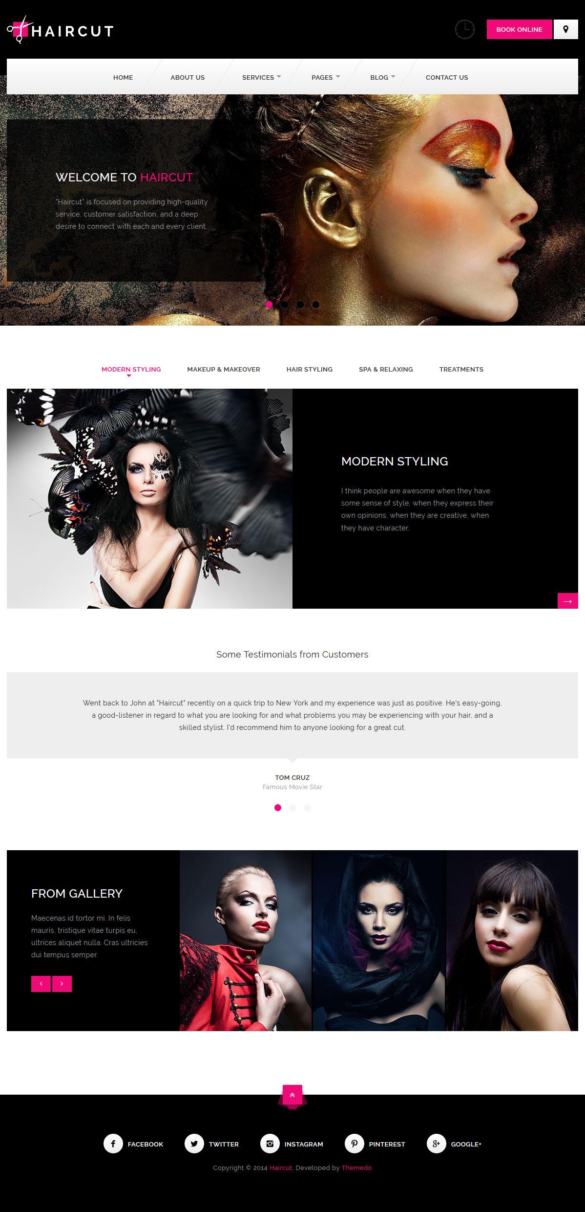 haircut best premium spa beauty wordpress theme - 10+ Best Premium Spa and Beauty WordPress Themes
