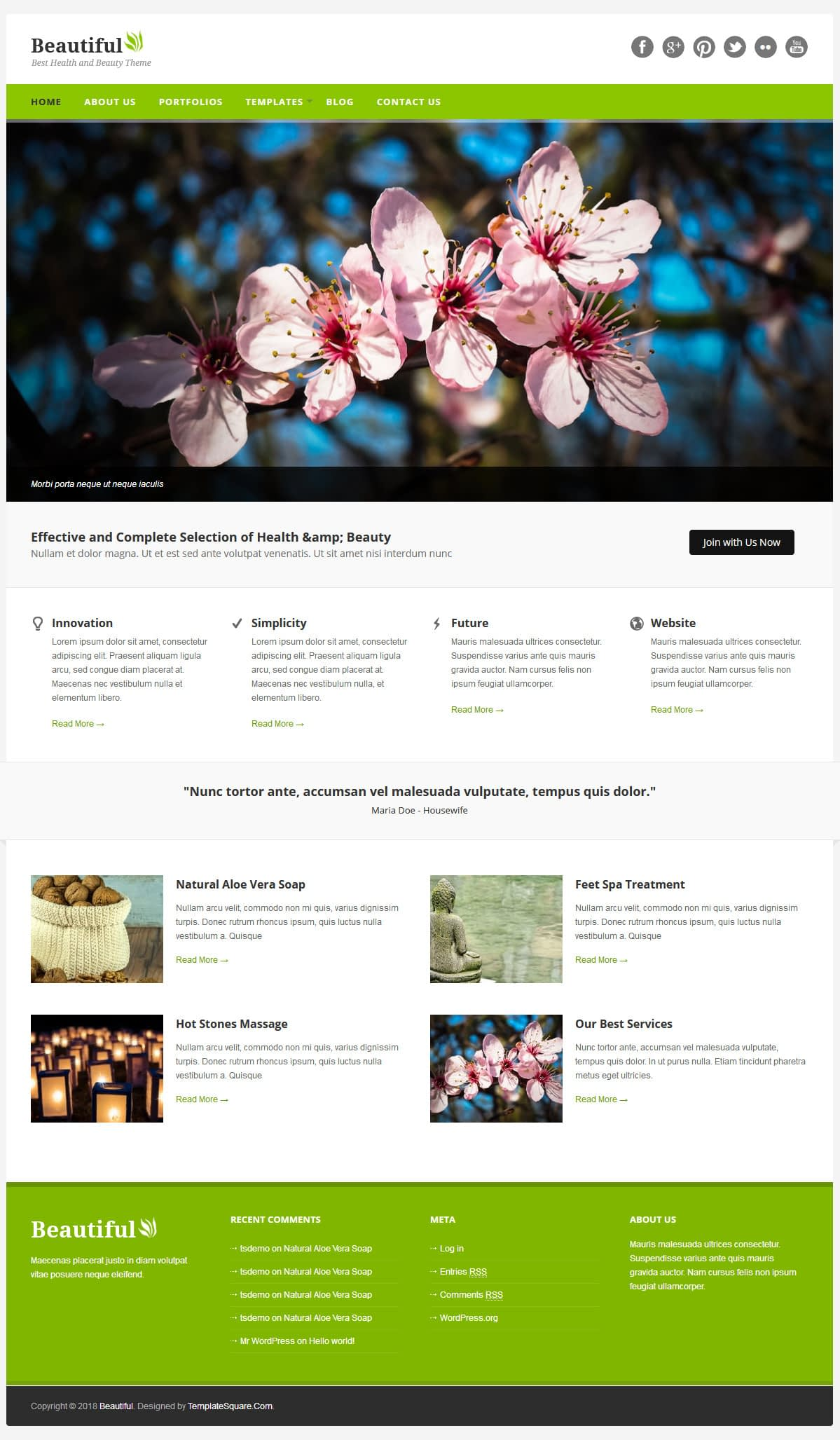 beautiful best premium spa beauty wordpress theme - 10+ Best Premium Spa and Beauty WordPress Themes