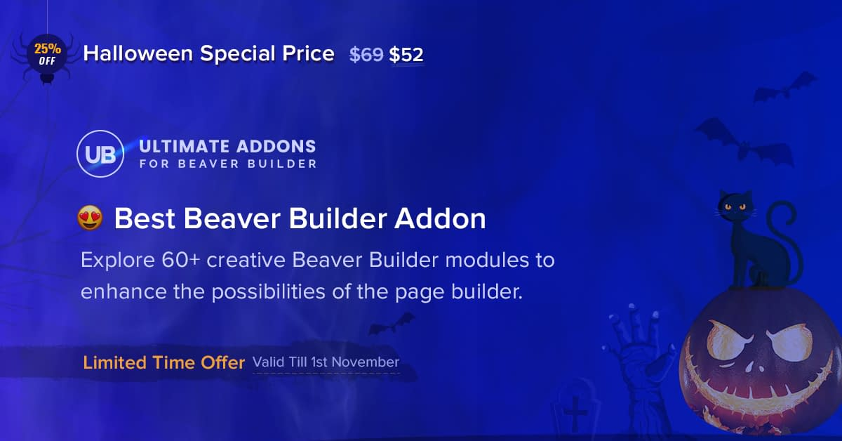 Ultimate Addons for Beaver Builder - Halloween Offer