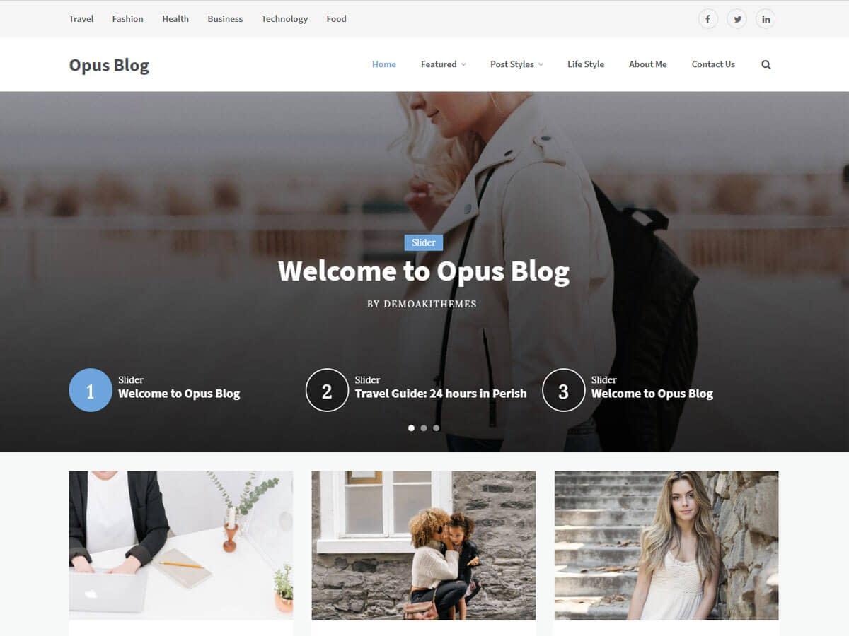 Opus Blog WordPress Theme