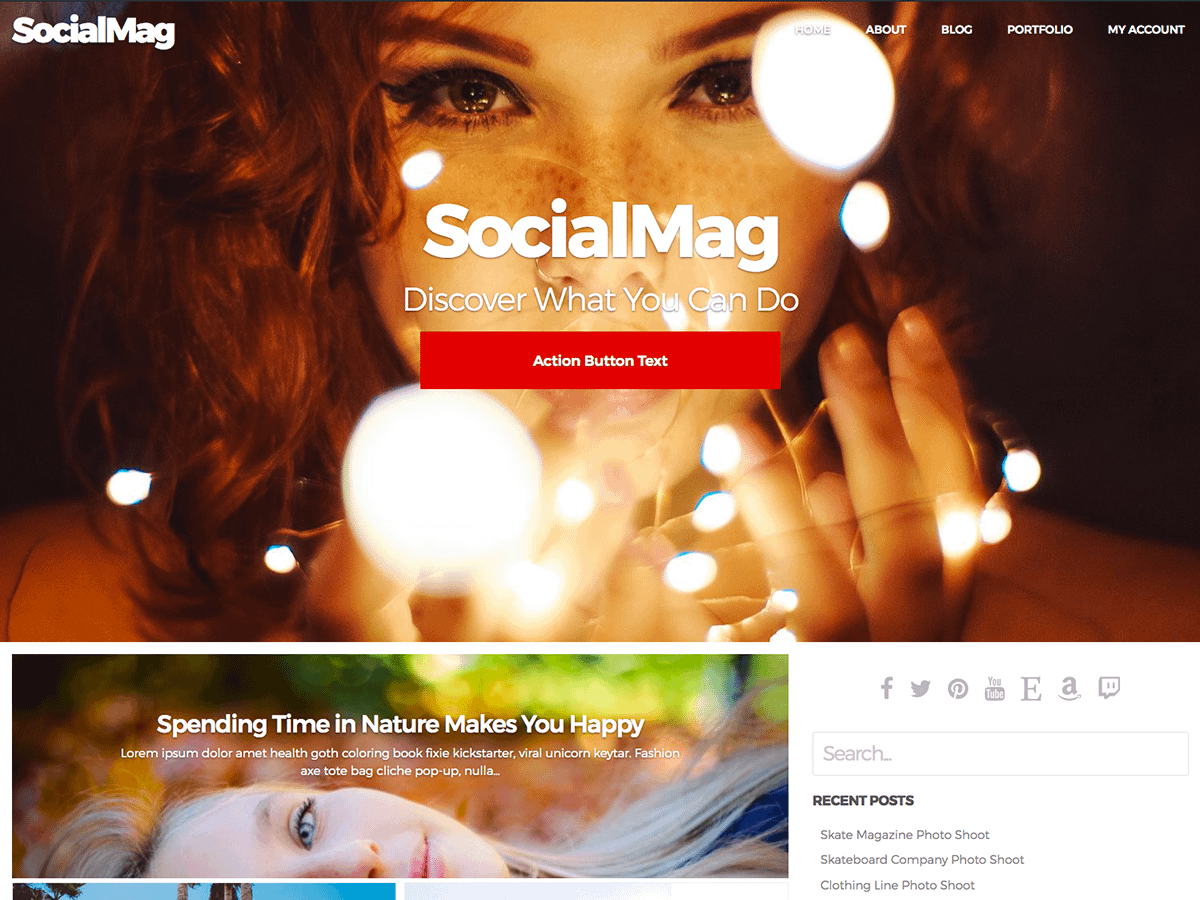 SocialMag - Best Free BuddyPress WordPress Theme