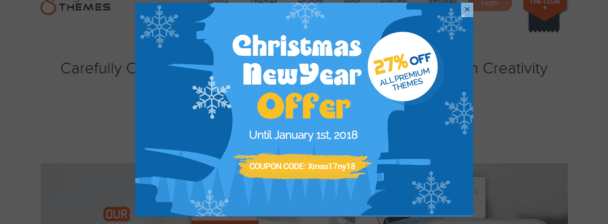 8DegreeThemes - Best WordPress Christmas and New Year Deals