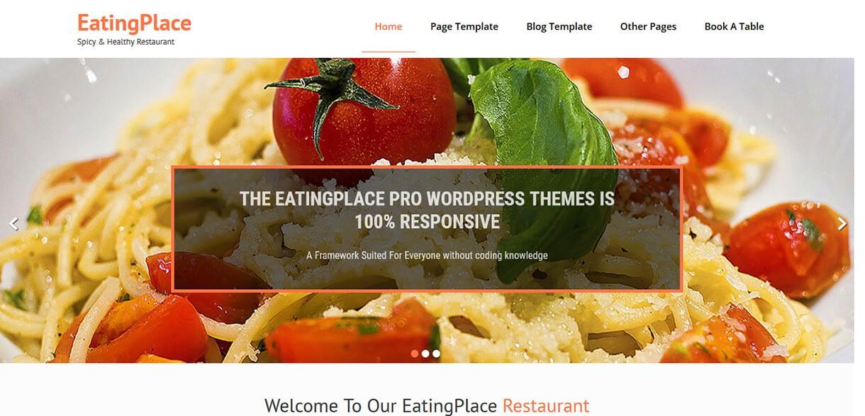 EatingPlace - Best Free Hotel Resort WordPress Themes Latest