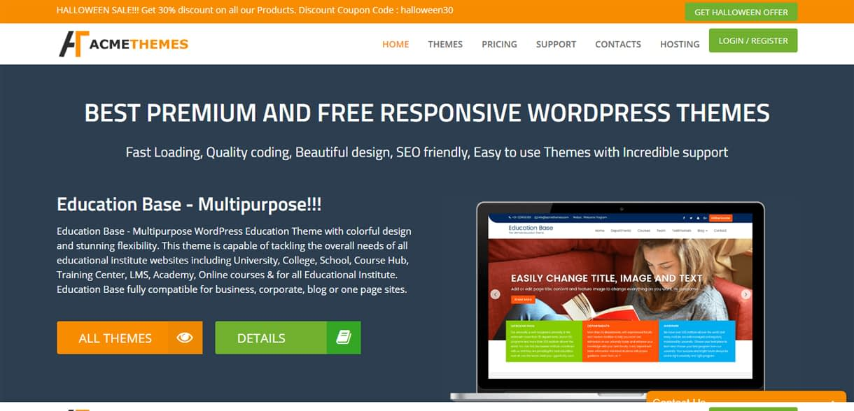 Acme Themes - WordPress Deals and Discounts for Halloween 2017