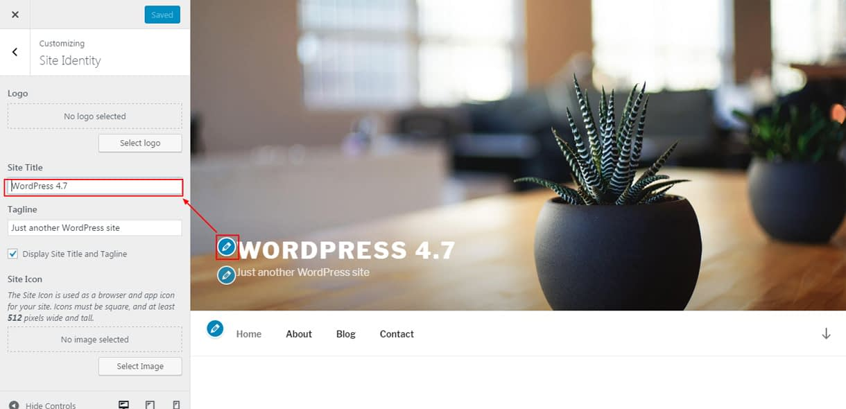 live edit shrtcut - What's new features in WordPress 4.7?