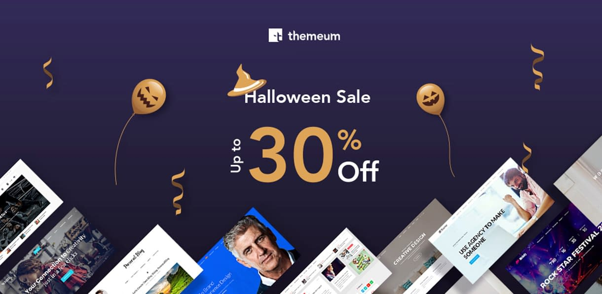WordPress Deals and Discounts for Halloween 2018 - Themeum