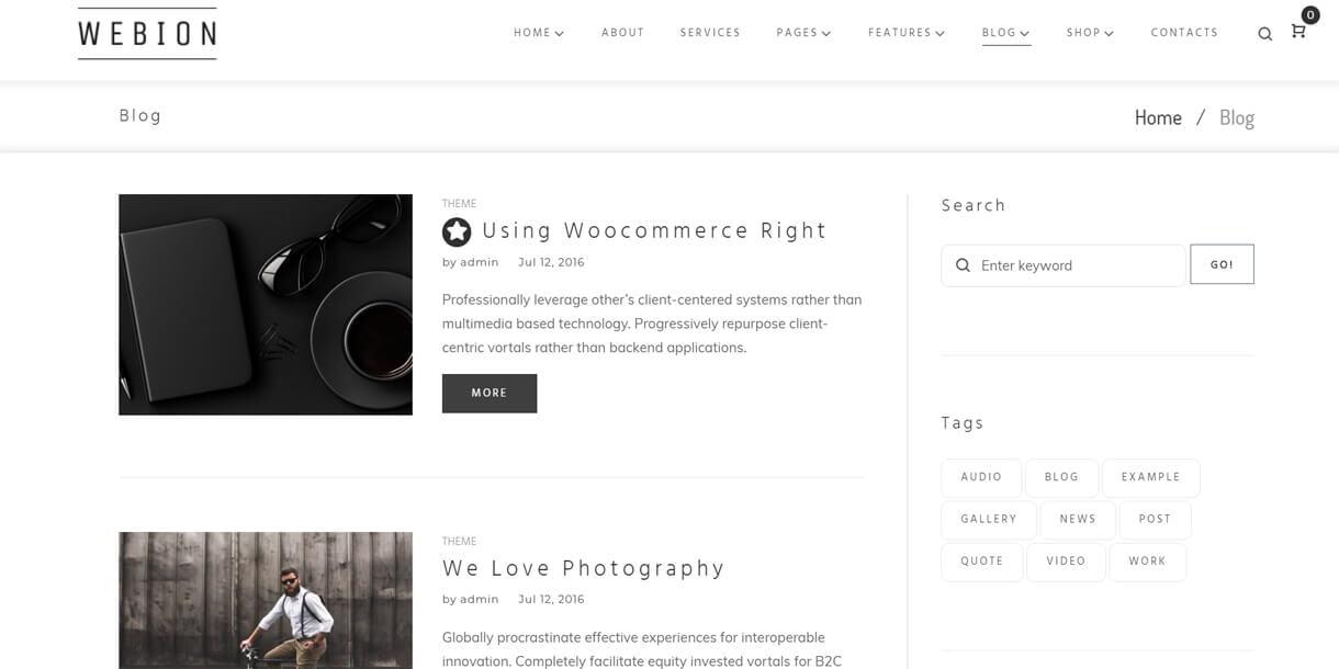 webion blog - Webion - Minimal Elementor Multipurpose WordPress Theme
