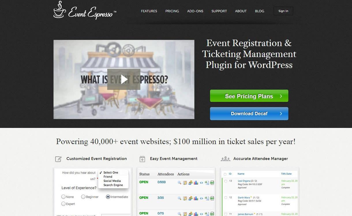 event-espresso WordPress Black Friday Deals and Discounts