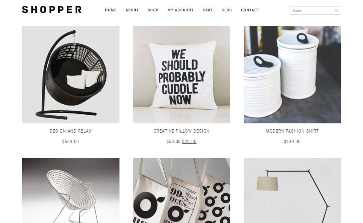 shopper best wordpress ecommerce themes