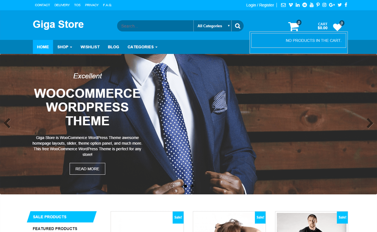 Giga Store-Best Free WordPress eCommerce Themes