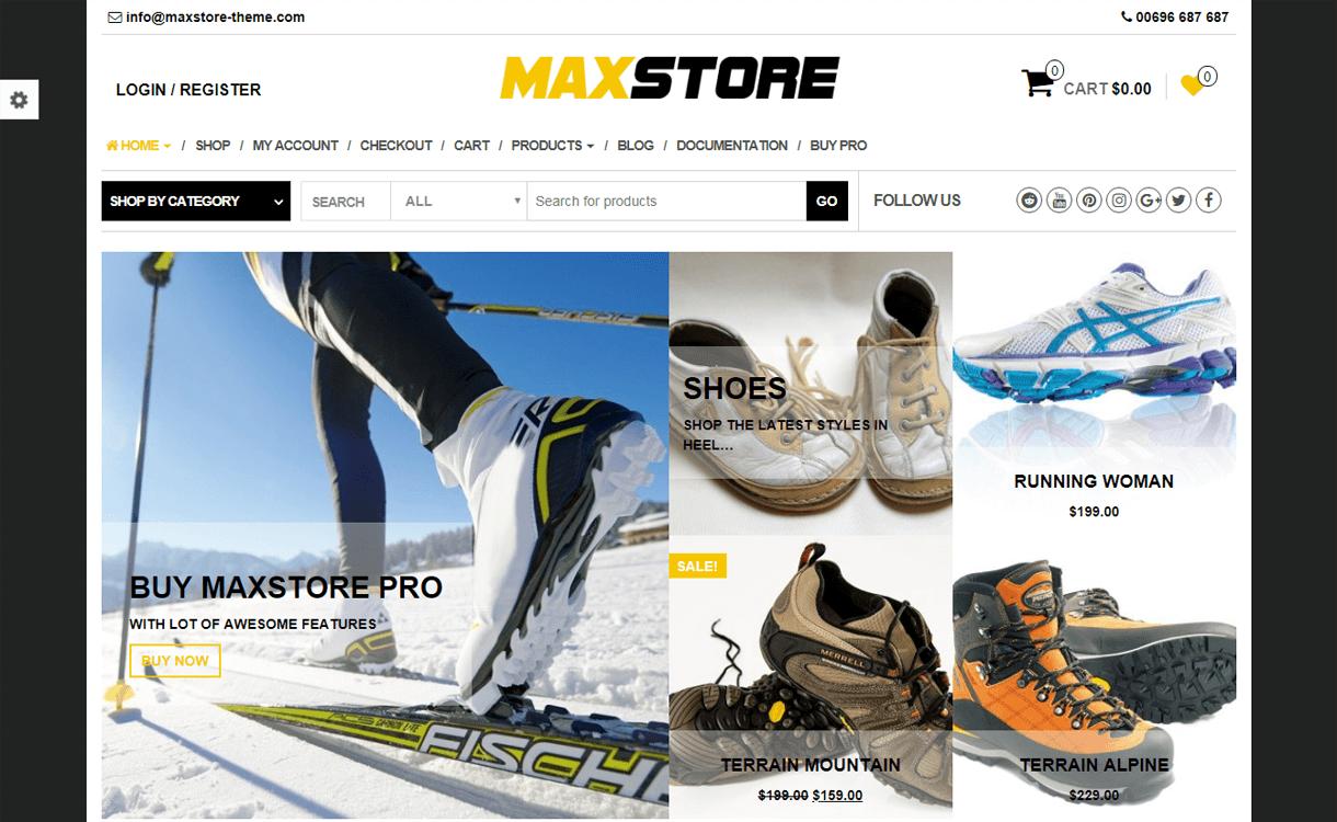 MaxStore-Best Free WordPress eCommerce Themes
