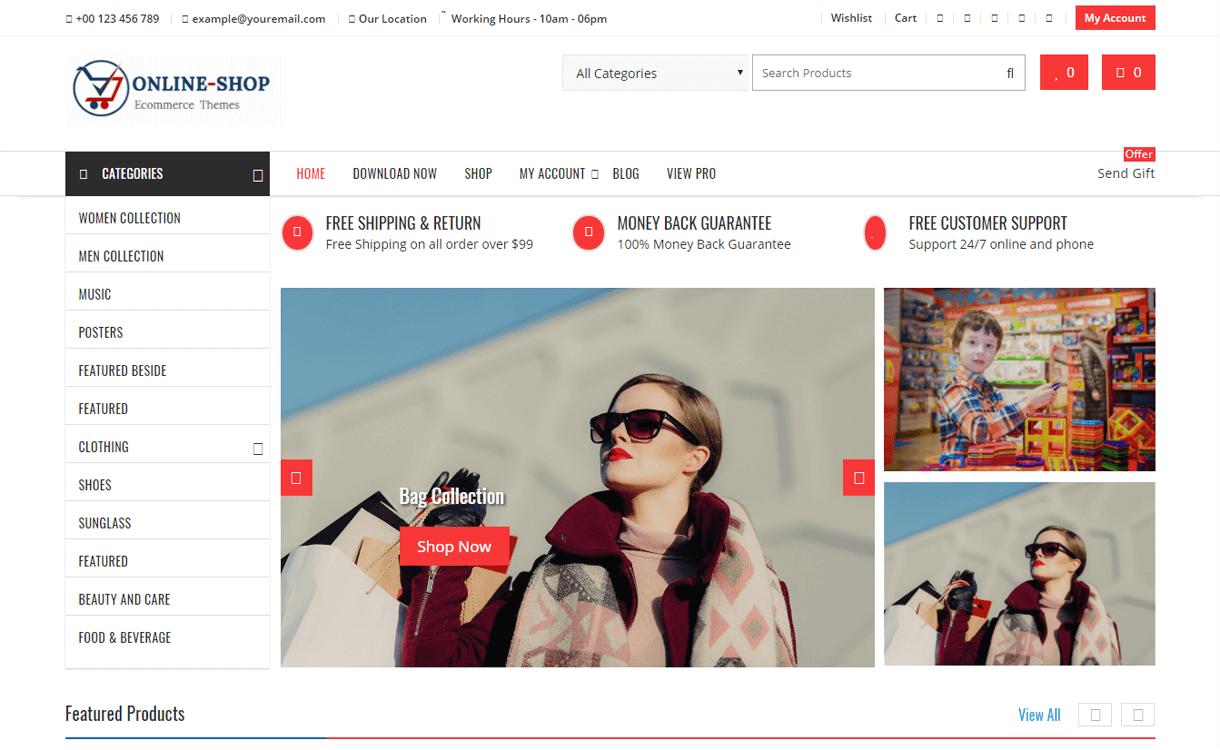Online Shop-Best Free WordPress eCommerce Themes
