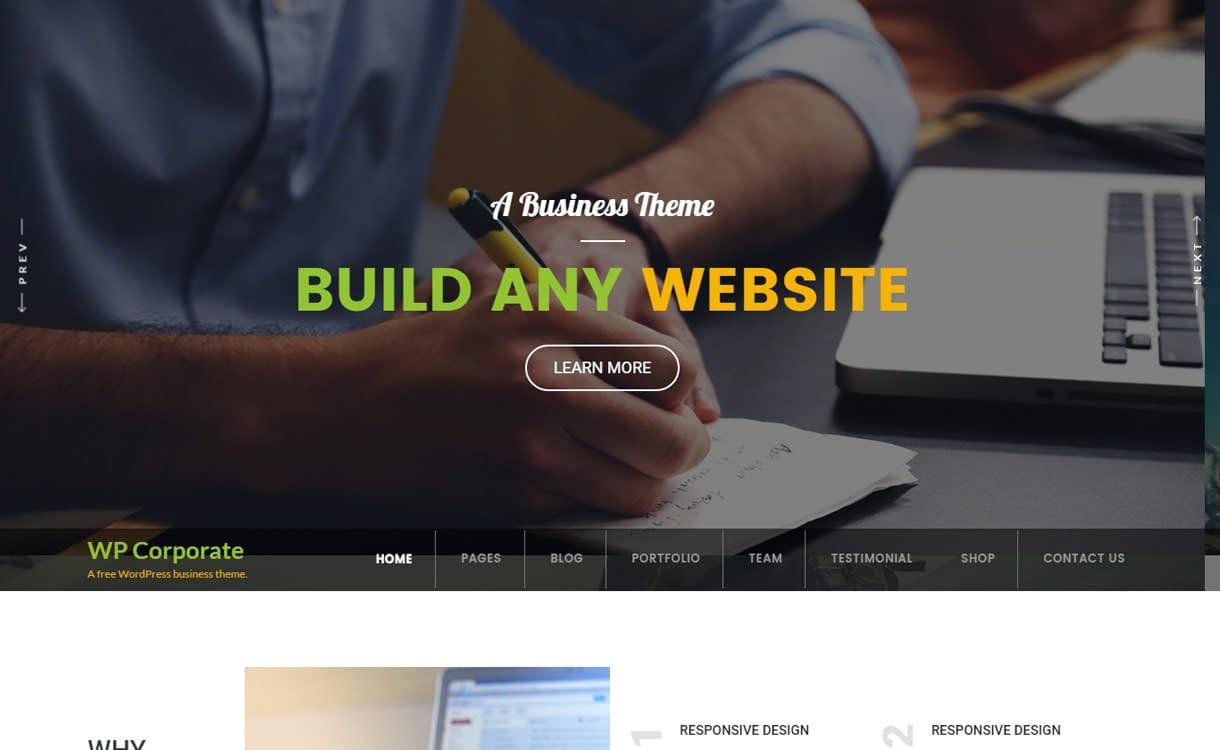 WP Corporate -Best free WordPress Business Theme 2018