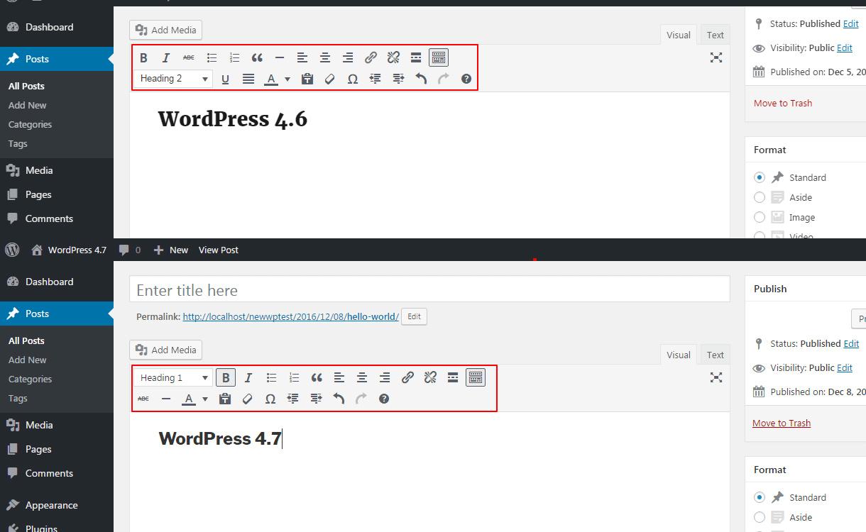 WordPress 4.7 feature Editor imporvements.
