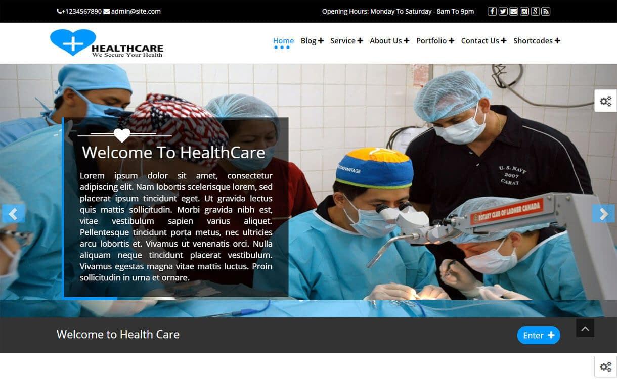 Healthcare - Free Medical WordPress Theme