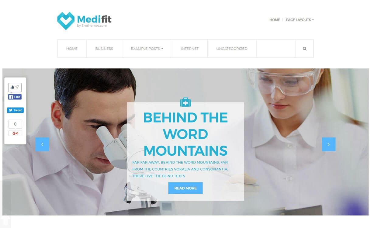 Medifit - Free Medical WordPress Theme
